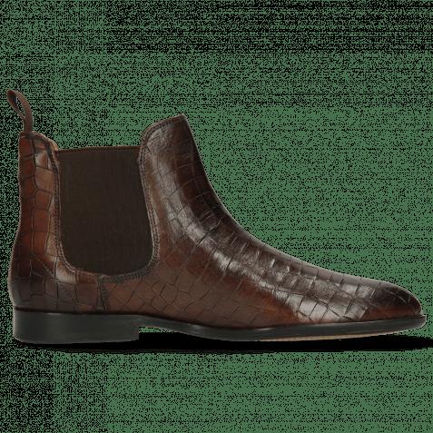 Ankle boots Susan 10 Crock Mogano Elastic Dark Brown