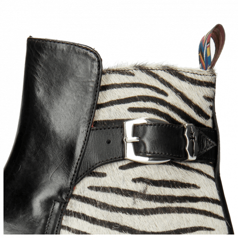 Ankle boots Toni 35 Black Hairon Breeze Nickel Young Zebra Sword