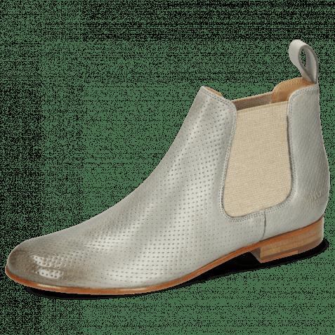 Ankle boots Sally 25 Imola Perfo Digital Elastic Lino