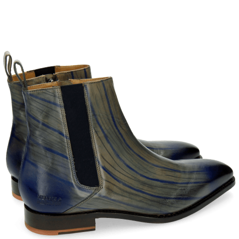 Ankle boots Kylian 2 Clear Water Lines Electric Blue London Fog Elastic Navy LS