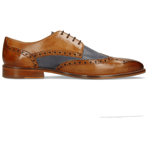Derby shoes Martin 15 Berlin Tan Perfo Navy