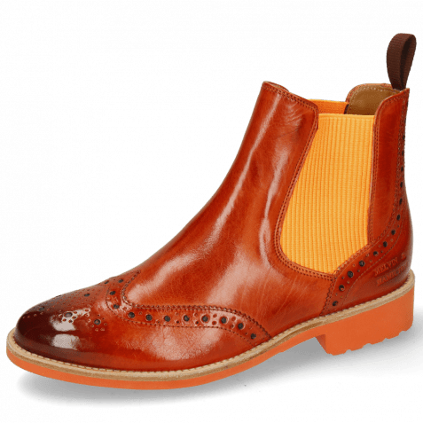 Ankle boots Selina 6 Winter Orange Elastic Ribbed Orange