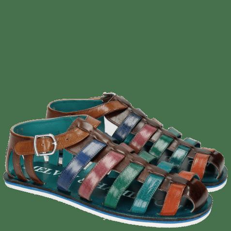 Sandals Sam 3 Classic Dark Brown Orange Ice Blue Electric Green Lilac Electric Blue Tan Modica White
