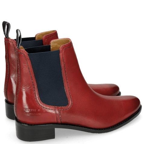 Ankle boots Xsara 1 Venice Red Elastic Navy Rubber Navy
