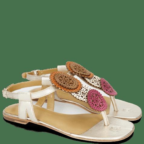 Sandals Vicky 11 Dark Pink Vegas White Tibet White