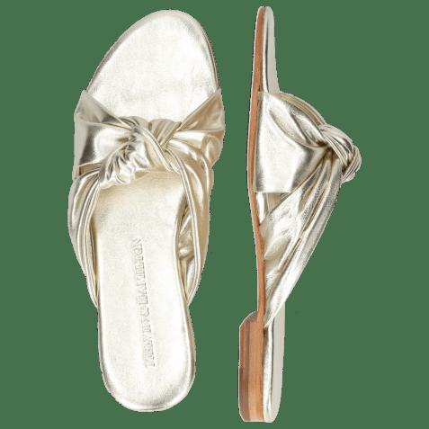 Mules Hanna 63 Nappa Platin Footbed