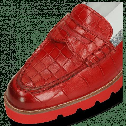 Loafers Mia 1 Turtle Crock Ruby Binding Snake