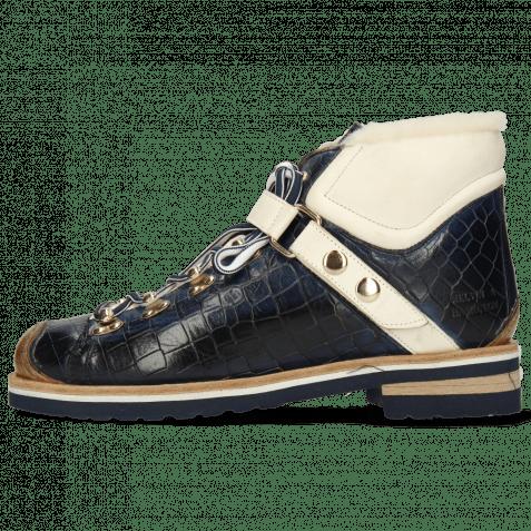 Ankle boots Eliza 1 Crock Navy Vegas White Strap