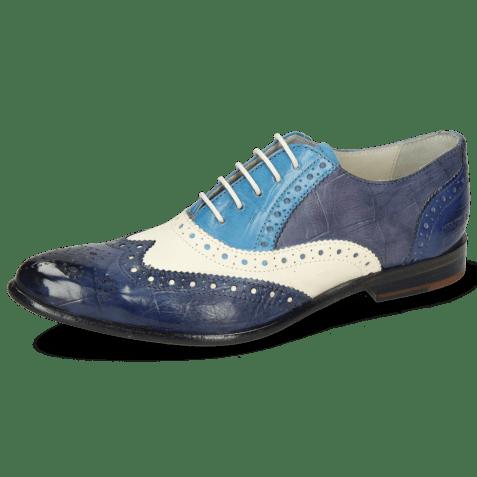Oxford shoes Keira 10 Imola Turtle Navy White Mid Blue Avio