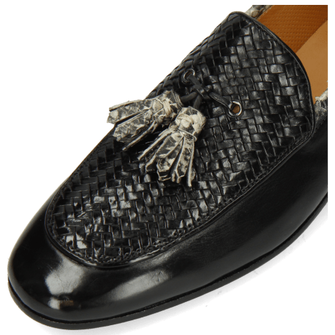 Loafers Clive 21 Imola Black Woven Snake