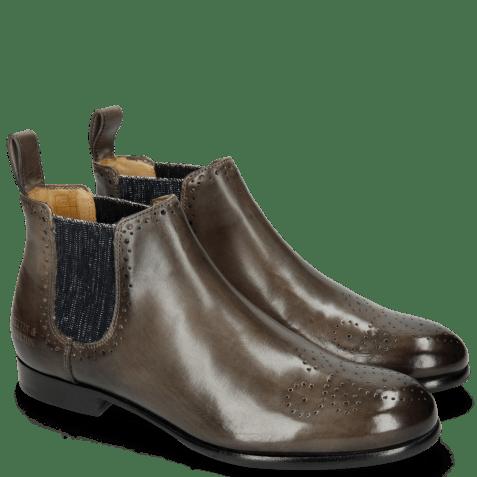 Ankle boots Sally 16 Grigio Elastic Glitter Navy