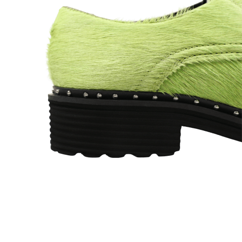 Derby shoes Sissy 1 Hair On Green Rivets Rook D Black