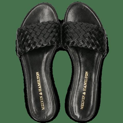 Mules Hanna 26 Woven Black LS Beige