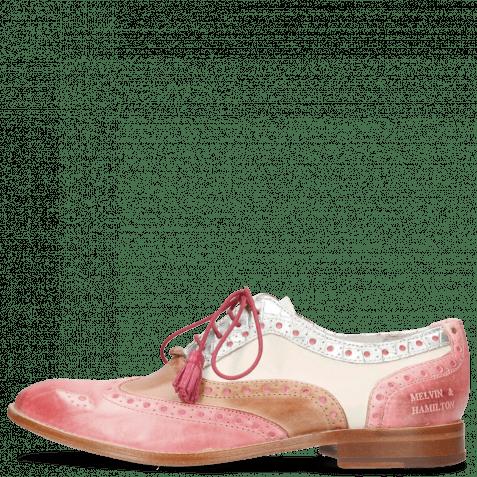 Oxford shoes Amelie 70 Vegas Skin Light Rose Timor Silver White