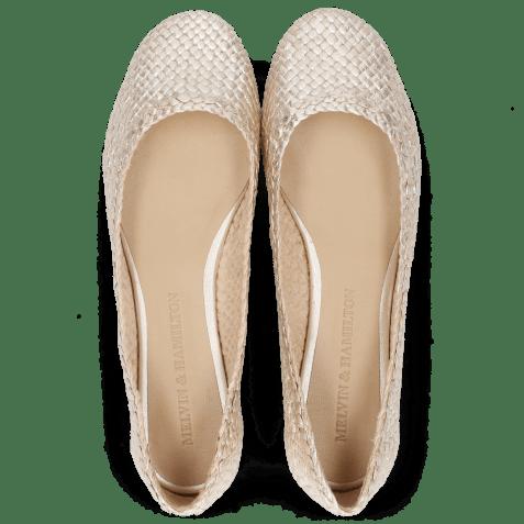 Ballet Pumps Kate 5 Woven Cherso Bisque