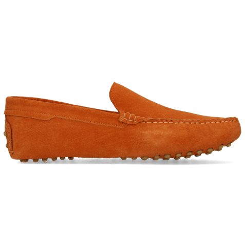 Loafers Nelson 1 Suede Pattini Winter Orange