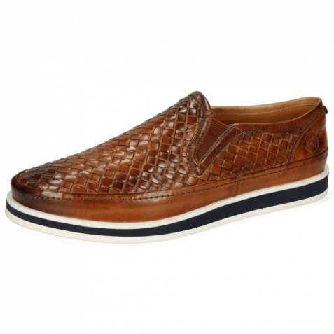 Loafers Harry 2 Tan Woven Modica Off White