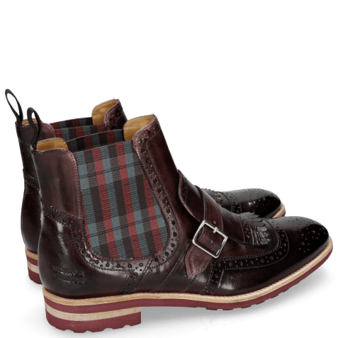 Ankle boots Eddy 20 Deep Pink Elastic Check Burgundy
