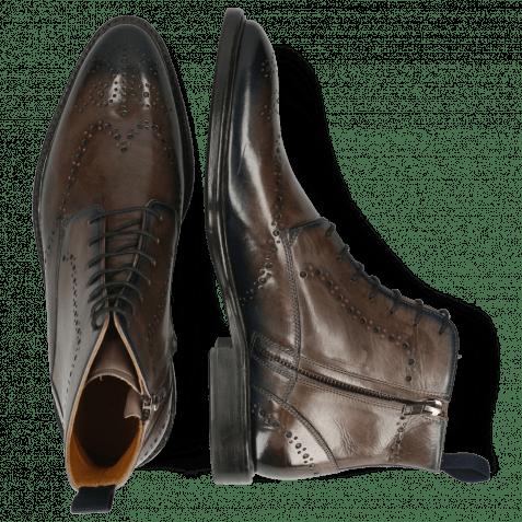 Ankle boots Bobby 9 Deep Steel Navy Loop
