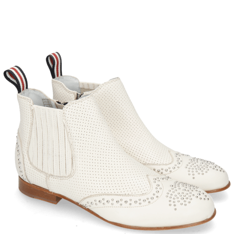 Ankle boots Sandy 4 Nappa Glove Perfo Cream Elastic Off White
