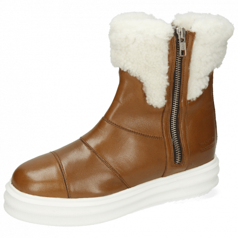 Ankle boots Fay 10 Nappa Glove Mink White