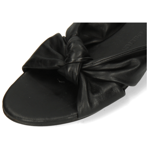 Mules Hanna 63 Nappa Black Footbed