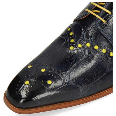 Derby shoes Lance 66 Galap Navy Underlay Fluo