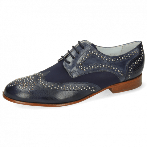 Derby shoes Sally 53 Venice Navy Lycra Navy