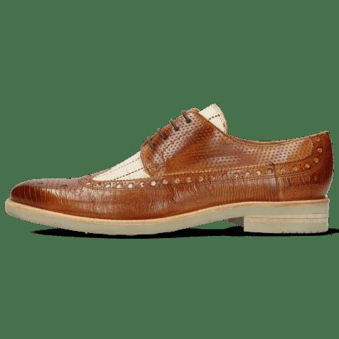Derby shoes Clint 34 Guanna Tan Line Jute Mesh