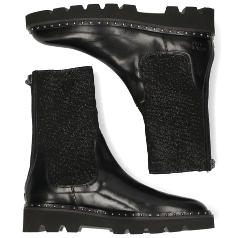 Ankle boots Susan 69 Black Stefy Black Silver Lining