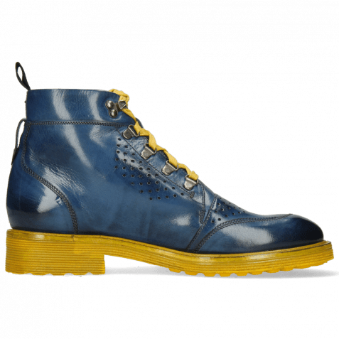 Ankle boots Trevor 5 Mock Navy Laces Yellow