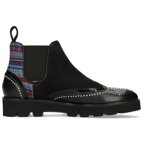 Ankle boots Sally 19  Black Patent Sheep Suede Quilesa