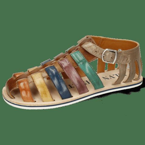 Sandals Sam 3 Classic Nougat Burnt Orange Olivine Navy Deep Pink Pine Smoke