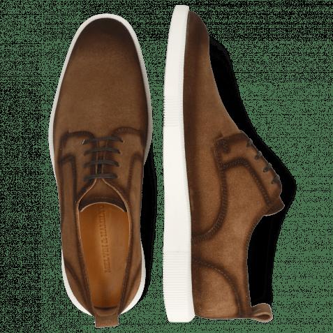 Sneakers Newton 4 Suede Pattini Tan Shade Dark Brown