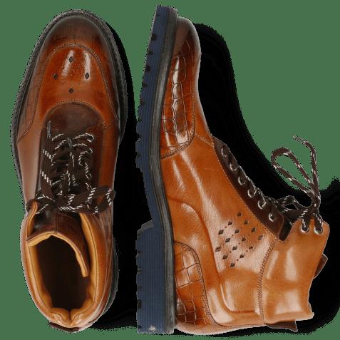 Ankle boots Trevor 28 Crock Cognac Mid Brown Navy