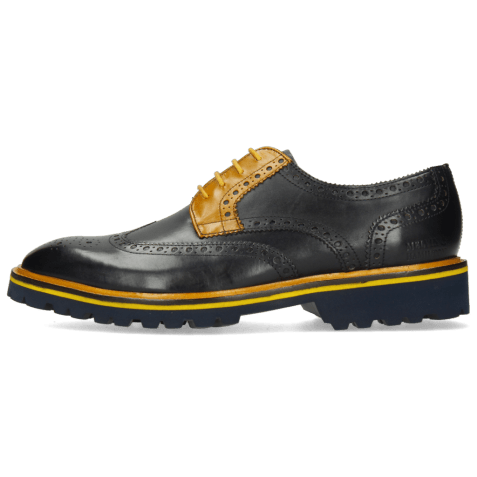 Derby shoes Matthew 33 Navy Yellow