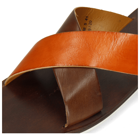 Mules Sam 5 Imola Dark Chocolate Arancio