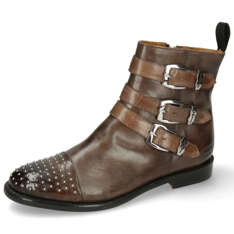 Ankle boots Selina 20 Stone Sword Buckle Nickel Rivets