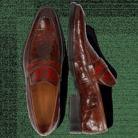 Loafers Leonardo 16 Crock Wood Ruby