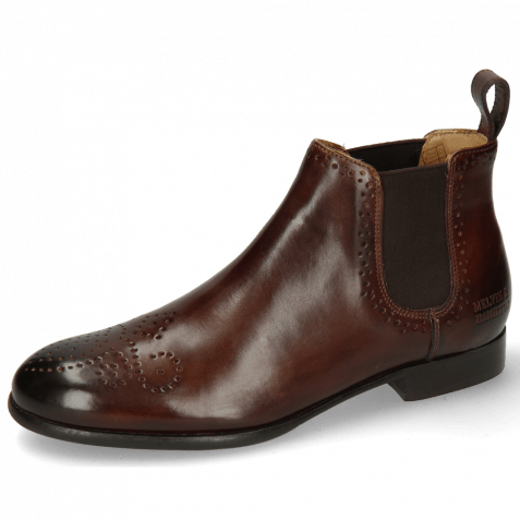Ankle boots Sally 16 Mogano Elastic Dark Brown