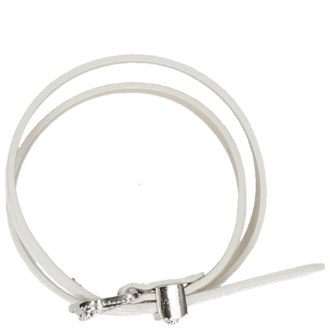 Bracelets Ines 1 Milled White Buckle Nickle