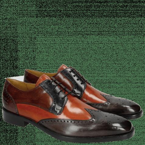 Derby shoes Jeff 14 Classic Stone Winter Orange Navy Cognac Violet HRS