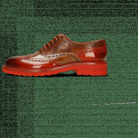 Oxford shoes Trevor 1 Winter Orange Tortora Wood