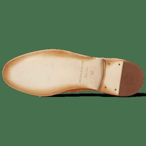 Oxford shoes Amelie 70 Vegas Orange Tan Wind Yellow Perfo White