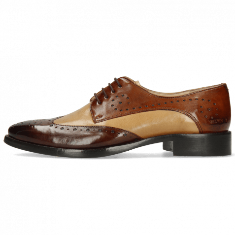 Derby shoes Betty 3 Imola Mid Brown Sand Wood