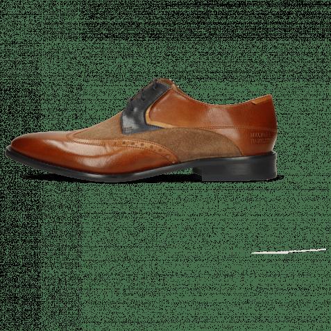 Derby shoes Victor 9 Venice Wood Suede Pattini Roccia Navy Sand