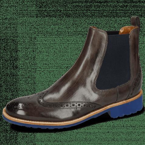 Ankle boots Amelie 5 Deep Steel Elastic Navy