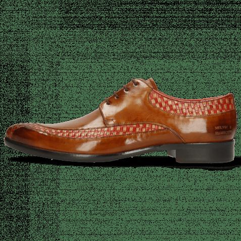 Derby shoes Toni 36 Woven Sand Ruby Cognac