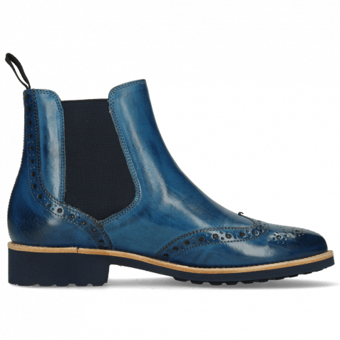 Ankle boots Selina 6 Mid Blue Elastic Navy