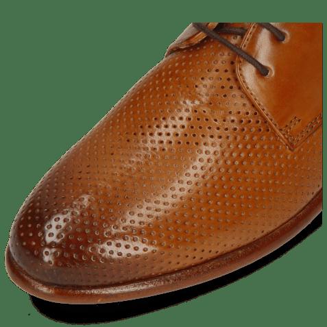 Derby shoes Selina 23 Pavia Perfo Tan